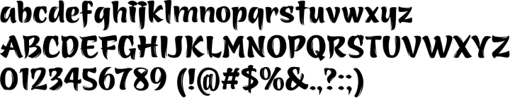 Azuki Font Specimen