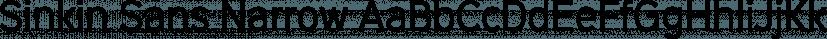 Sinkin Sans Narrow font family by K-Type