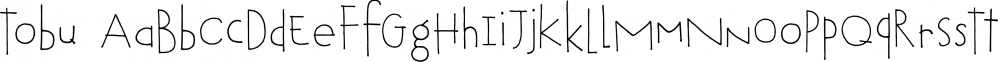 Tobu font family by Hanoded