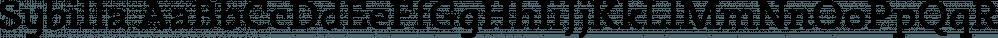 Sybilla font family by Karandash