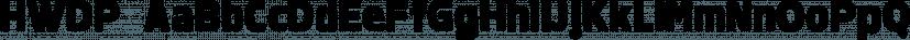 HWDP font family by BORUTTA