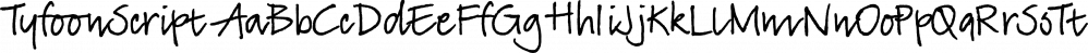 TyfoonScript font family by Fontforecast