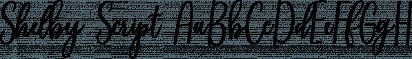 Shelby Script font family by Genesislab