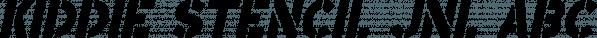 Kiddie Stencil JNL font family by Jeff Levine Fonts