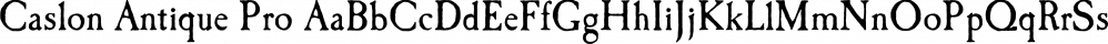 Caslon Antique Pro font family by SoftMaker