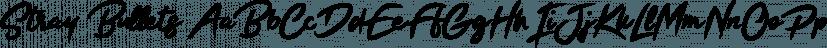 Stray Bullets font family by Great Scott