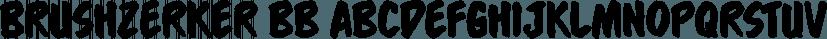 Brushzerker BB font family by Blambot