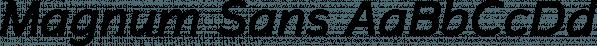 Magnum Sans font family by FontMesa