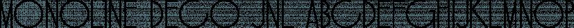 Monoline Deco JNL font family by Jeff Levine Fonts