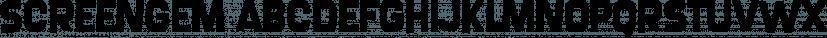 Screengem font family by Typodermic Fonts Inc.
