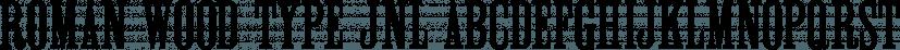 Roman Wood Type JNL font family by Jeff Levine Fonts