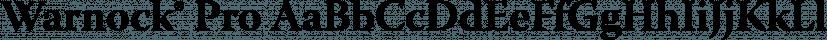 Warnock® Pro font family by Adobe