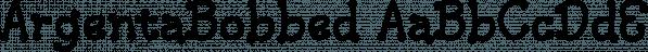 ArgentaBobbed font family by Ingrimayne Type