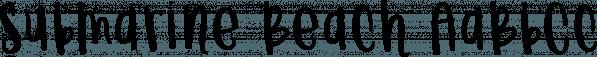 Submarine Beach font family by Brittney Murphy Design