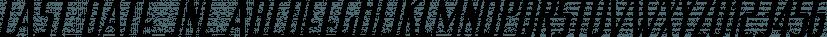 Last Date JNL font family by Jeff Levine Fonts