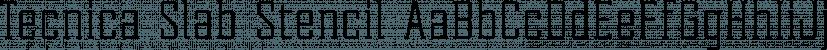 Tecnica Slab Stencil font family by Graviton