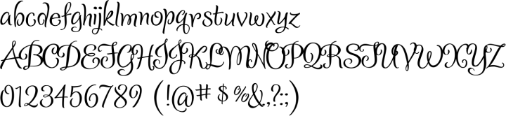 Confection Font Specimen