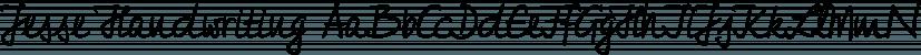 Jesse Handwriting font family by FontSite Inc.