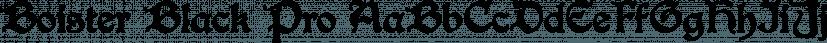 Boister Black Pro font family by CheapProFonts