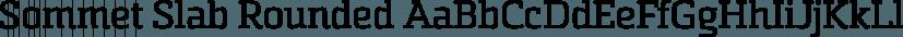 Sommet Slab Rounded font family by Insigne Design