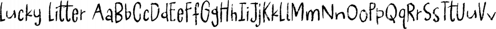 Lucky Litter font family by Pizzadude.dk