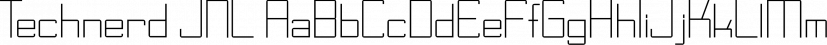 Technerd JNL font family by Jeff Levine Fonts