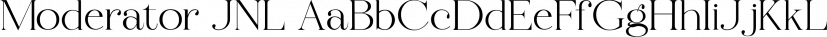 Moderator JNL font family by Jeff Levine Fonts