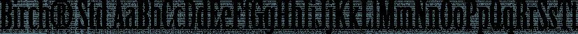 Birch® Std font family by Adobe