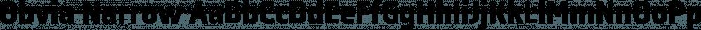 Obvia Narrow font family by Typefolio Digital Foundry