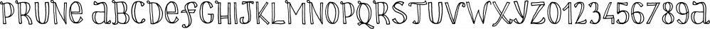 Prune font family by La Boite Graphique