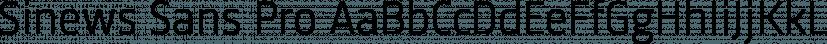 Sinews Sans Pro font family by TypeMates