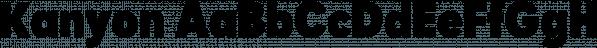Kanyon font family by Hurufatfont Type Foundry