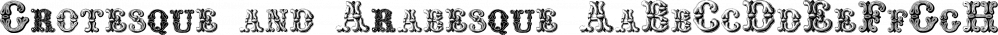 Grotesque and Arabesque font family by Intellecta Design