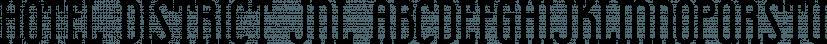 Hotel District JNL font family by Jeff Levine Fonts