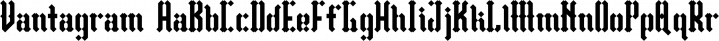 Vantagram font family by TEKNIKE