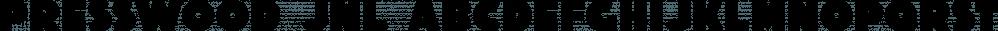Presswood JNL font family by Jeff Levine Fonts