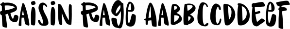Raisin Rage font family by Missy Meyer