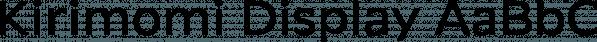 Kirimomi Display font family by Wordshape