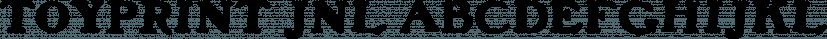 Toyprint JNL font family by Jeff Levine Fonts