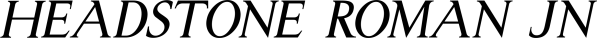 Headstone Roman JNL font family by Jeff Levine Fonts