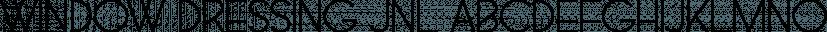 Window Dressing JNL font family by Jeff Levine Fonts