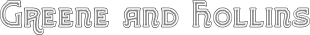 Greene and Hollins font family mini