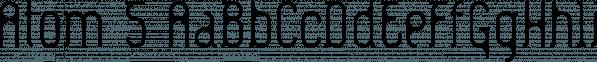 Atom 5™ font family by MINDCANDY