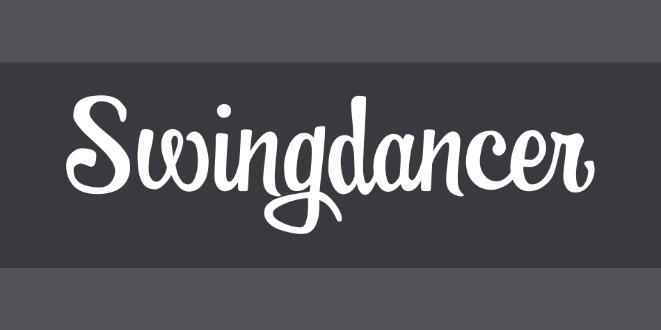 Swingdancer Font Poster