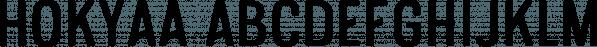 Hokyaa font family by Locomotype