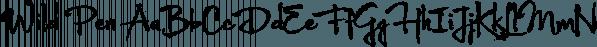 Wild Pen font family by Corradine Fonts