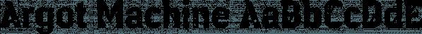 Argot Machine font family by K-Type