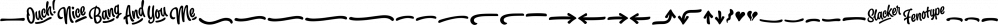 Slacker font family by Fenotype