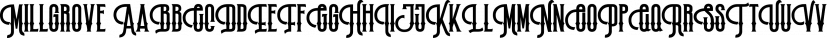 Millgrove font family by Letterhend Studio