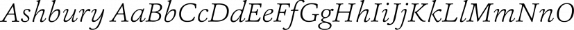 Ashbury font family by Hoftype